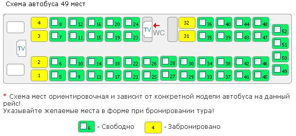 Автобус категория тс м3 схема мест и