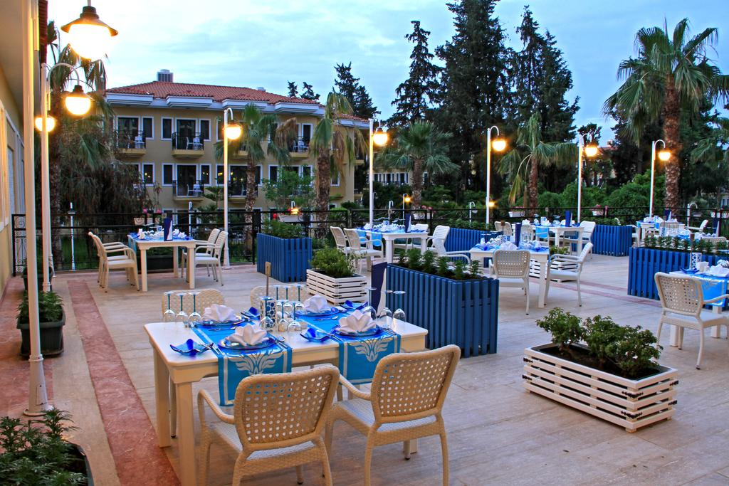 ресторан отеля Club Hotel Phaselis Rose 5*  (Клуб Отель Фазелис Роуз)