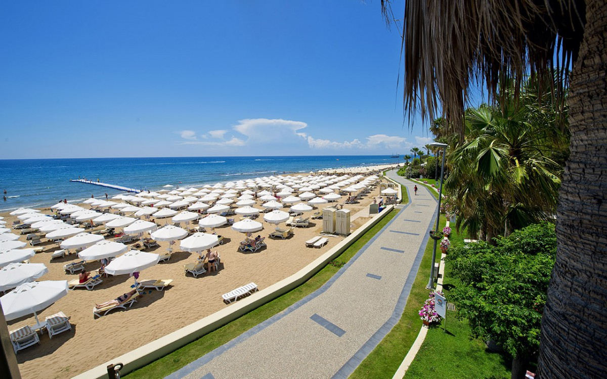 Пляж отеля Barut Hotels Hemera Resort & Spa 5* HV1 (Барут Отель Хемера Резорт Спа)