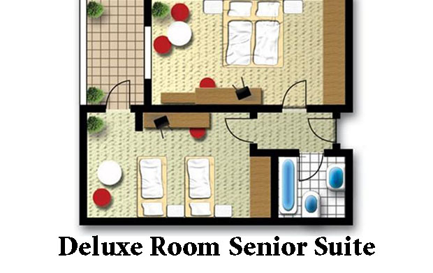 Deluxe room senior suite отеля Splashworld Pegasos World 5*  (Сплеш Ворлд Пегасос)