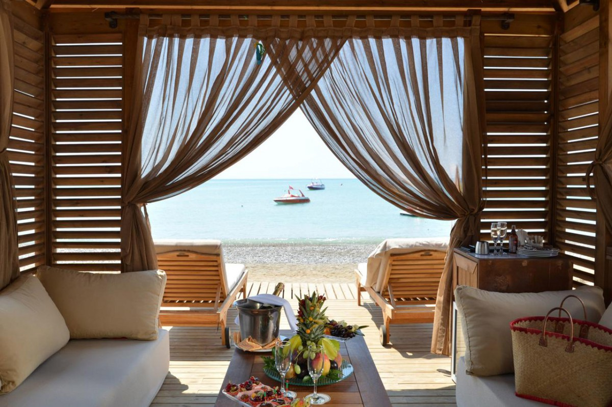 cabana on the beach отеля Alva Donna Exclusive Hotel & Spa 5*  (Альва Донна Эксклюзив Хотел Энд Спа)