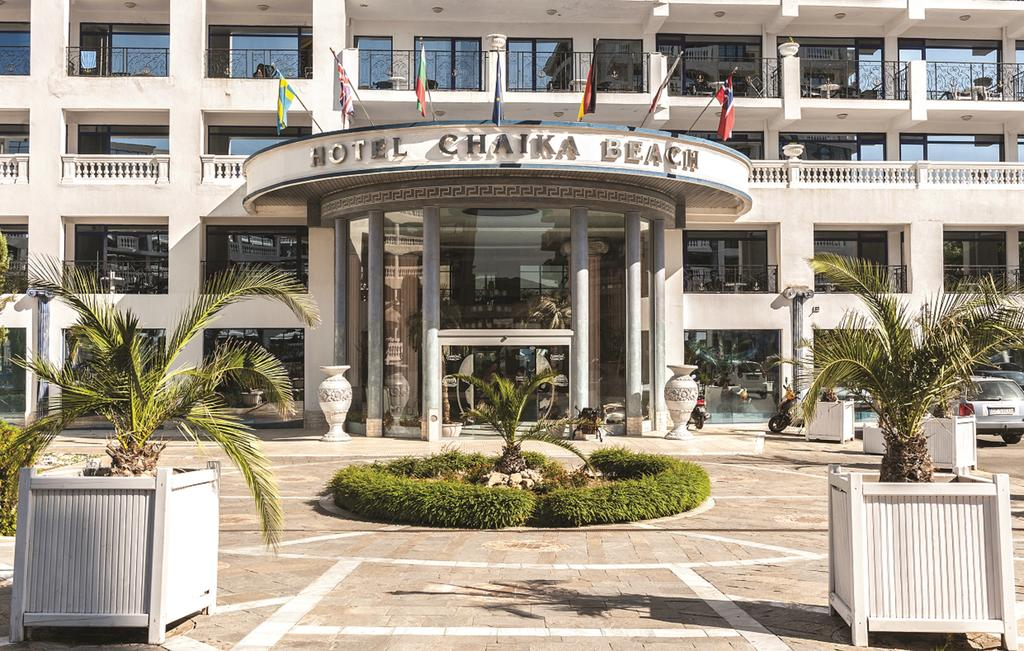 Територия отеля Chaika Beach & Spa Hotel 4* + (Чайка Резорт)