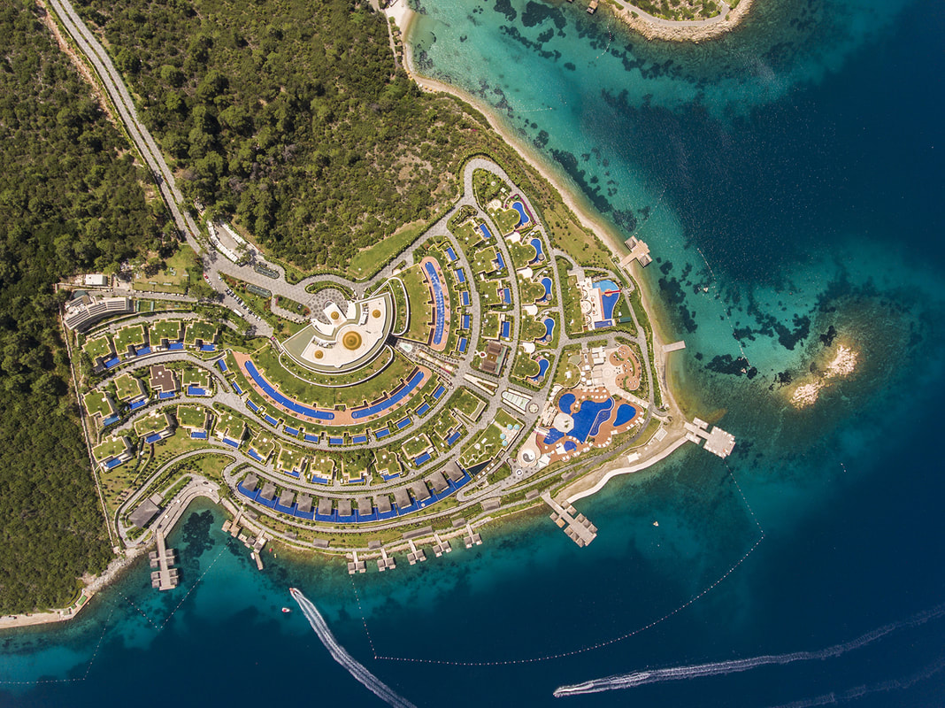 территория отеля The Bodrum By Paramount Hotels Rerort 5*  (Зе Бодрум Бай Парамаутн Холетс Резорт)